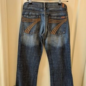 7 For All Mankind Dojo jeans wide bottom SZ 28
